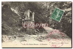 Old Postcard La Sainte Baume Oratory