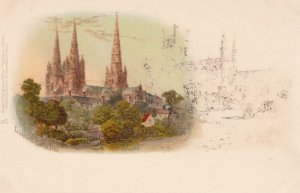 Litchfield Catherdral , Staffordshire , England , 1890s-1907 : TUCK