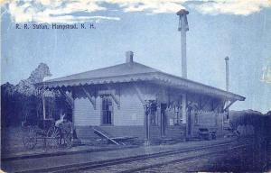 Hampstead NH Railroad Station Train Depot Postcard