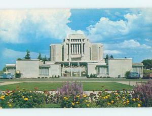 Pre-1980 TEMPLE SCENE Cardston - Near Lethbridge Alberta AB c6421