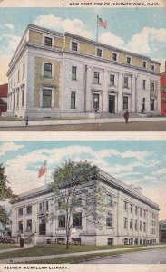 New Post Office & Reuben McMillan Library , YOUNGSTOWN , Ohio ; PU-1922