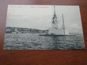 Turkey Postcard 1900-06 UDB Unused Tour de Constantinople Leandre Lighthouse?