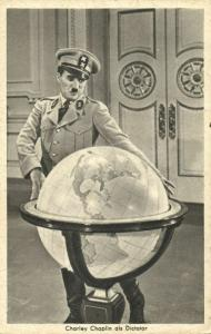 English Silent Film Actor Charlie Chaplin in The Great Dictator (1940) Postcard