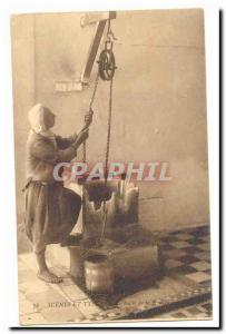Algeria Old Postcard Scenes and Types The well Koubba