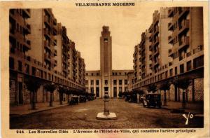 CPA Villeurbanne moderne Les Nouvelles Cites - L'Avenue de l'Hotel-de (614543)
