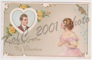 Richmond Maine Copyright 1910 H. Wessler Valentine Yellow Roses Postcard A31