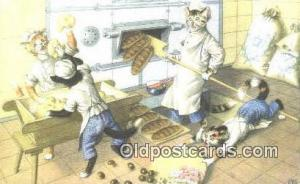 Alfred Mainzer Post Card Artist Signed Cat Post Card Old Vintage Antique Belg...