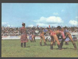 098257 WRESTLING MONGOLIA wrestlers Old photo PC