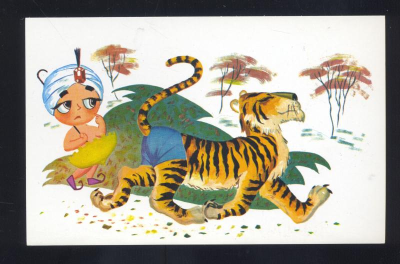 SAMBO'S RESTAURANT PICTURE STORY SERIES ADVERTISING POSTCARD TIGER SAD BOY