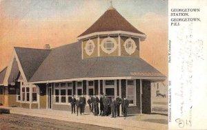 Georgetown PEI Canada Train Station Vintage Postcard AA4265