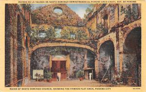 Panama City Ruins of Santo Domingo Church Showing the Famous Flat Arch