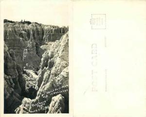 Hell's Hals Acte?? in Badlands near Rapid City South Dakota SD, RPPC