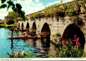 England Stratford Upon Avon Clopton Bridge and River Avon