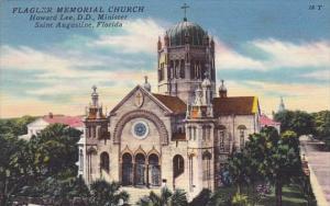 Florida Saint Augustine Flagler Memorial Church Howard Lee DD Minister 1960