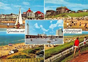 Netherlands Groeten uit Noordwijk Aan Zee Beach Plage Hotel Boats Auto Cars