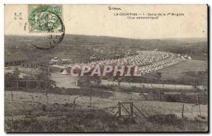 Postcard Old Army Camp La Courtine of the 1st Brigade