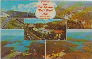 5 Views of Hot Springs National Park, Arkansas: Race Track, Bath House, Lake ...