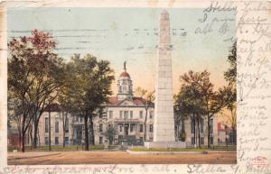 AUGUSTA GEORGIA RICHMOND COUNTY COURT HOUSE & SIGNERS MONUMENT POSTCARD 1907