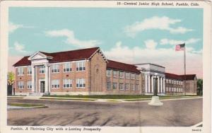 Central Junior High School Pueblo Colorado Curteich