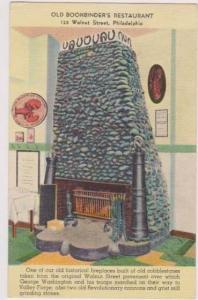 Cobblestone Fireplace Inside Old Bookbinder's Restaurant, Walnut St., Philade...