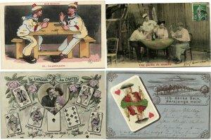 JEUX DE CARTES CARD GAMES GAME 48 CPA pre-1940 (L3982)