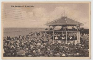 Kent; The Bandstand, Broadstairs PPC, 1937 PMK, To Mrs Hughes, Bedford Park