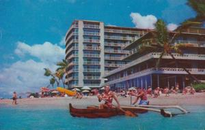 Hawaii Oahu The Reef Hotel On The Beach At Waikiki 1958