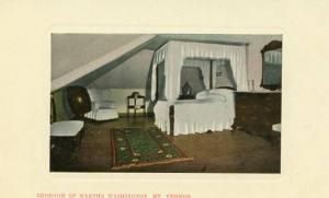 VA - Mt. Vernon, Bedroom of Martha Washington