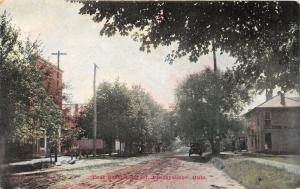 E89/ Frazeysburg Ohio Postcard c1910 East Second Street Globe House