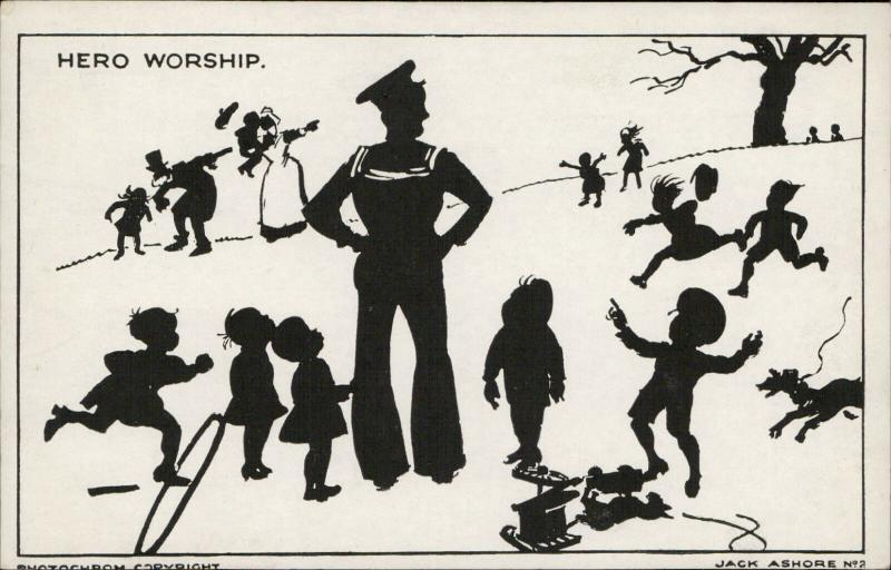 silhouette sailor children hero worship artist Jack Ashore