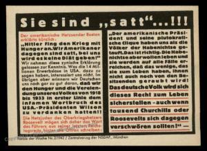 3rd Reich Germany Goebbels Parole der Woche Propaganda Plakat Sheetlet 87731