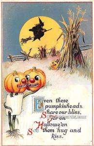 Halloween Post Card Old Vintage Antique Writing on back