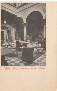 FLORENCE , Italy, 1900-1910s ; Palace Hotel - Hall