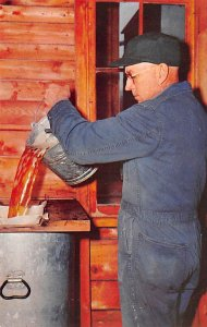 Maple Sugar Post Card Maple Syrup Filtering Process Photographer Robert B. Fr...