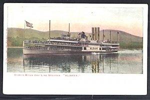 Hudson River Day Line Steamer Albany UDB Postcard
