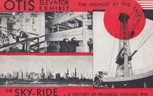 CHICAGO , Illinois , 1934 ; Exposition ; OTIS Elevator Exhibit