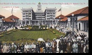 New Jersey Atlantic City Hotel Rudolf And Entrance To New Garden Pier