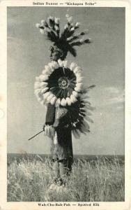 Elk City Oklahoma 1930s Wah-Chop-Rah-Pah Spotted Elk Graycraft postcard 7629
