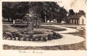 Rockville City Park Fountain Real Photo Antique Postcard J68589