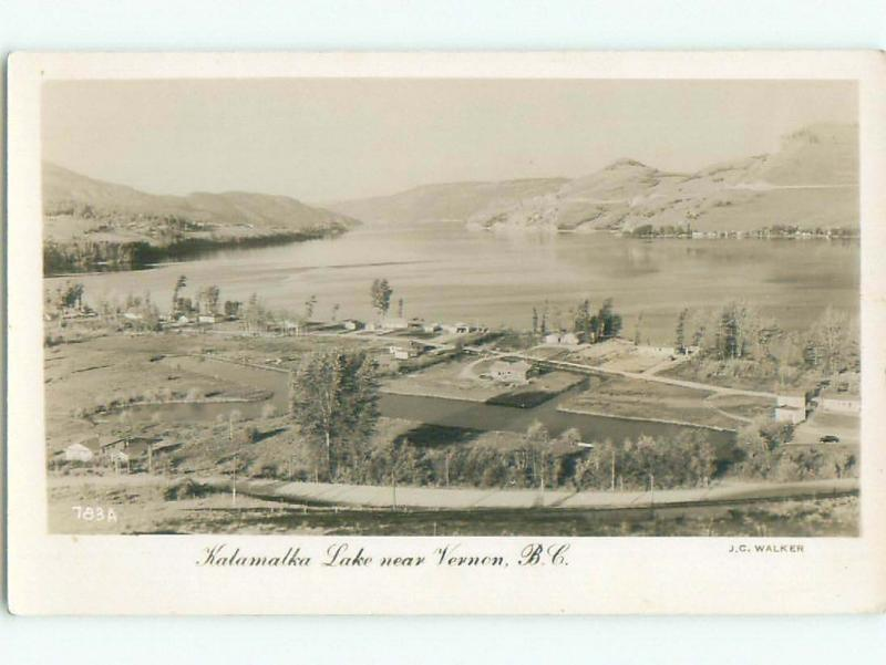 old rppc NICE VIEW Vernon British Columbia BC W0790