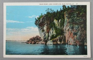 Rock Point, Lake Champlain, Burlington VT Postcard (#6402)