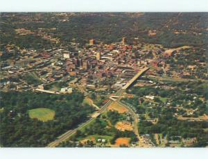 Unused Pre-1980 AERIAL VIEW OF TOWN Greenville South Carolina SC n2320-12