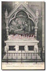 Old Postcard Tomb of Nantes Monseigner Fournier in the Basilica of Saint Nicolas