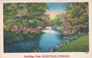 Indiana Greetings From Rushville