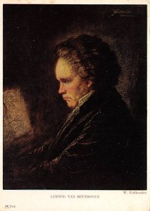 Ludwig van Beethoven  Postcard Unused