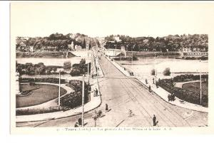 Postal 026794 : Tours, Pont Wilson et la Loire