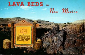 New Mexico Lava Beds Highway 66 Welcome Sign