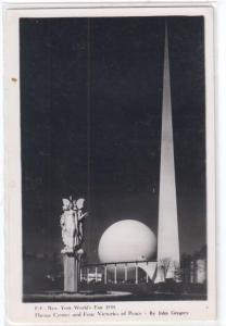 RPPC, 1939 NY Worlds Fair, Theme Center