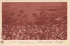 Morocco Casablanca Le Port vu en Avion