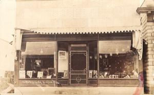 Hixton Wisconsin~Close Up Drug Store~Storefront~RCA Victor Dog~Posters~1914 RPPC